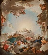 la providencia presidiendo las virtudes y las facultades del hombre by d. francisco bayeu y subias