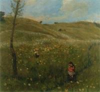 sommerwiese mit kindern by heinrich pforr
