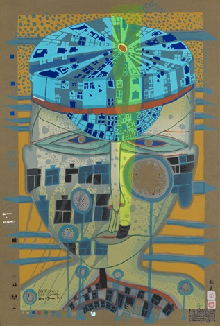 il marinaio one of five seamen by friedensreich hundertwasser