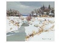 snow riverside by shoichiro nushi