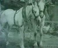 pferdegespann by emanuel hegenbarth