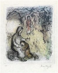 la bénédiction de jacob by marc chagall