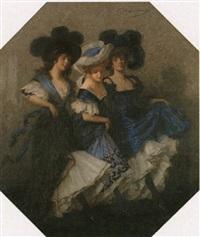 drei tänzerinnen by ludwig von langenmantel