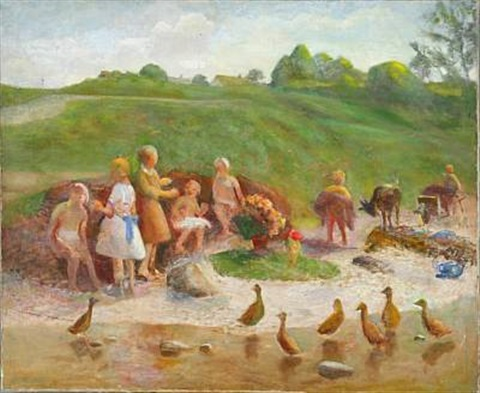 paddling children by hans ole brasen