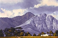 storm clouds over the helderberg mountains by ted (tjeerd adriaanus johannes) hoefsloot