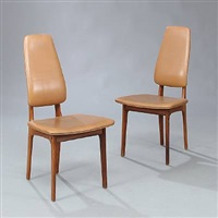high back side chairs (set of 10) by helge vestergaard jensen