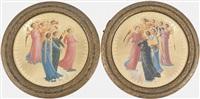 engel mit posaunen vor goldgrund (+ another, similar; pair) by luisa cecherini