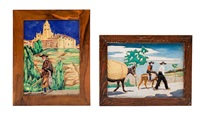 vistas rurales (2 works) by daniel zuloaga