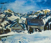winterlandschaft, kornberg by walter jacob