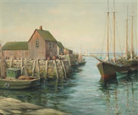 wharf at rockport by arthur e. bracy
