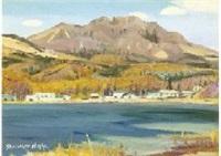 mountain and lake by shoichiro nushi