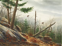 autumn landscape with game birds by william p. tyner