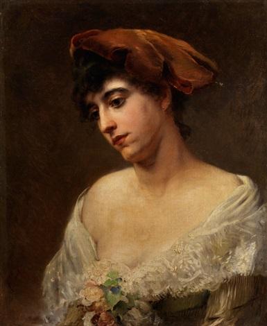portrait einer jungen dame by konstantin egorovich makovsky