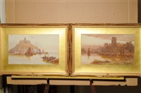 st. michael's mount (+ pembroke castle; pair) by walter stuart lloyd