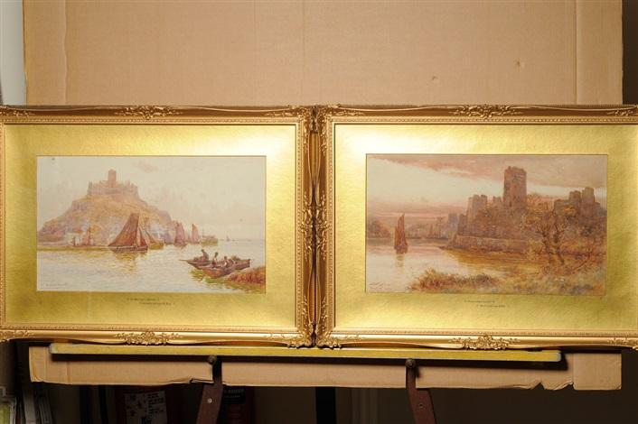 st michaels mount pembroke castle pair by walter stuart lloyd