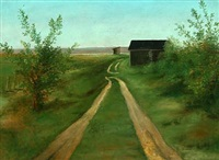 landscape by a country road by wilhelm freddie