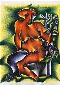 flora (frau mit strauch) by fritz baumgartner