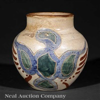vase decorated by walter anderson by shearwater pottery