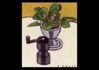 saintpaulia and a coffee grinder by seiichi kasai