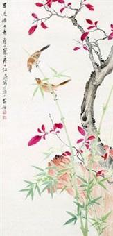 竹林双禽 by jiang hanting