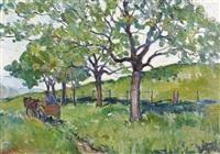 printemps avec tombereau by françois louis jacques