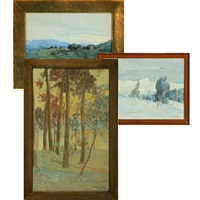 landscape from bygdø (+ 2 others, smaller; 3 works) by knut ragnvald sandvik