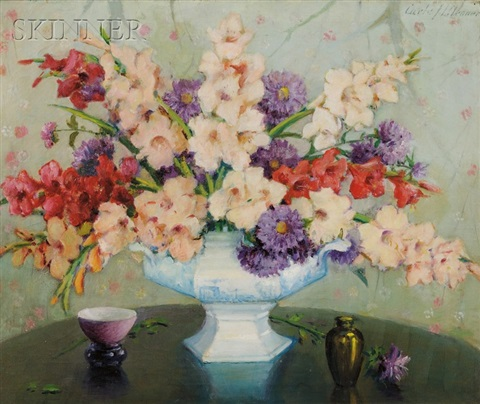 mixed glads and asters by carle john blenner