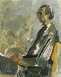porträtt av nils ferlin by alf lindberg