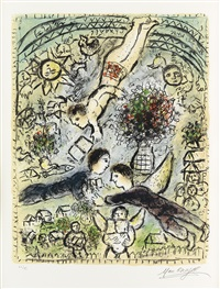 le ciel by marc chagall
