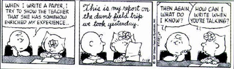 Lucy cartoon strip by Charles M. Schulz