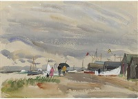 old felixstowe by the ferry steps (+ 9 others; 10 works) by jean alexander