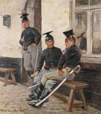 a la garde by leon eugene august abry
