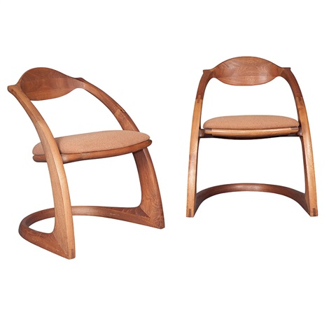 Zephyr Chairs (pair) By Wendell Castle