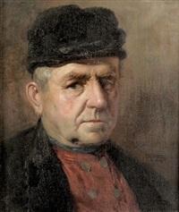 porträt eines herrn mit ohrring by ludwig kandler