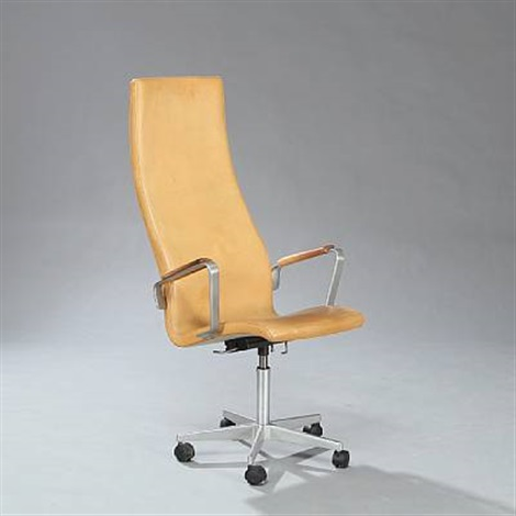 oxford high back swivel chair model 3292 by arne jacobsen