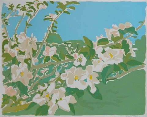 apple blossoms iii by fairfield porter
