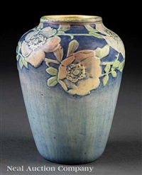vase decorated by henrietta davidson bailey by newcomb college pottery