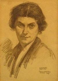 portrait of a woman by wilhelm wachtel