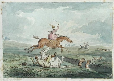 neck or nothing by thomas rowlandson
