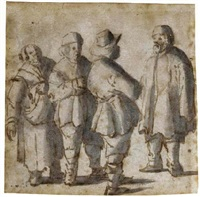 a group of four peasants by barent avercamp