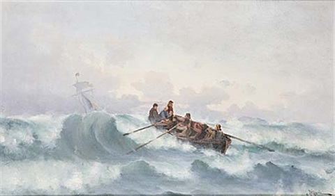 stormande hav by ludvig otto richarde