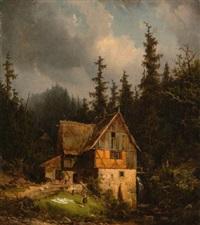 alte mühle am waldbach by karl leipold