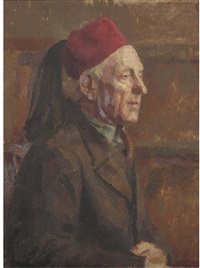 man in a fez (+ 8 others; 9 works) by jean alexander