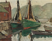 motif #1 (a rockport harbor view) by aldro thompson hibbard