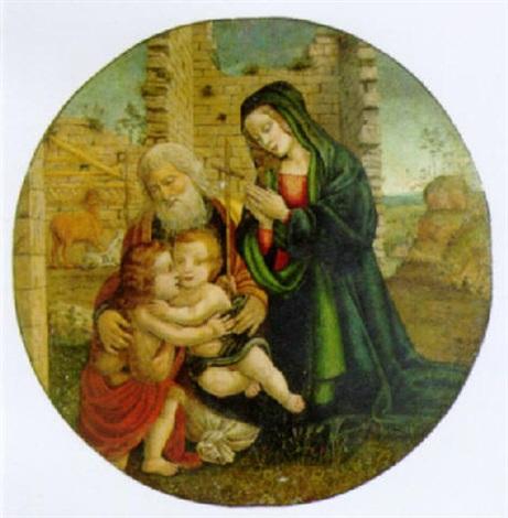 sacra famiglia con san giovannino by filippo (filippino) lippi