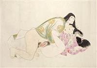 shunga (set of 12) by japanese school (20)