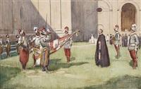 der fahneneid. vereidigung der vatikanischen garde by sigmund lipinsky