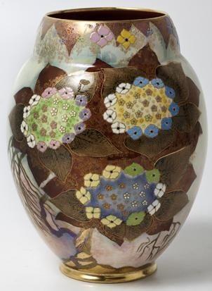 Lacecap Hydrangea Vase By Carlton Ware On Artnet