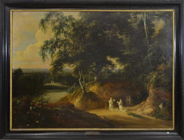 paysage avec moines by jacques d arthois