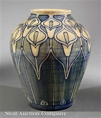 vase decorated by mary williams butler by newcomb college pottery